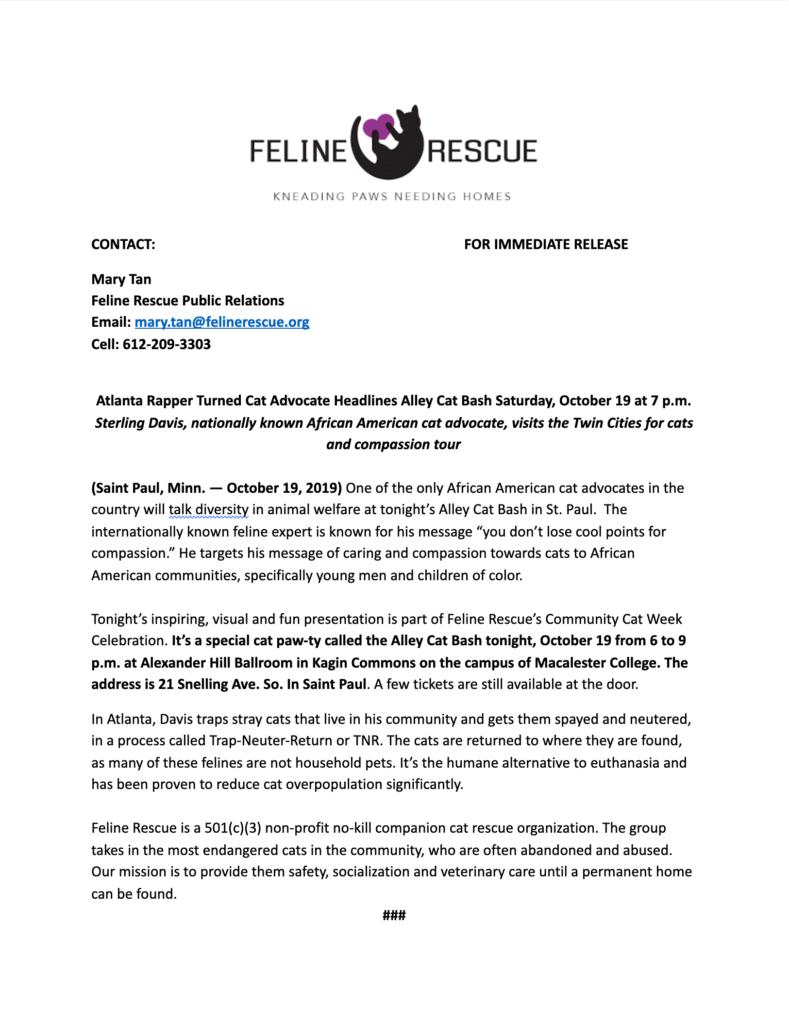 sterling davis press release